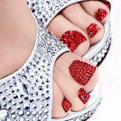 Rhinestone toes