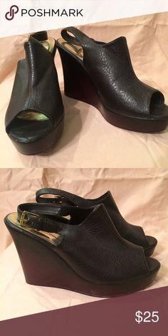 Pierre Dumas wedges Comfortable wedges. Worn once. Pierre Dumas Shoes Wedges