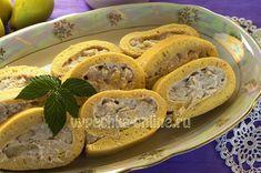 Рулет бисквитный с творожным кремом #Cake #Roll #Cream #Cheese #Pear #Baking #Yummy #Recipes #CakesOnline #Бисквит #Рулет #Крем #Творог #Груша #Выпечка #Вкусняшка #Рецепты #ВыпечкаОнлайн