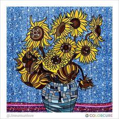 #sunflower #vincentvangogh #coloringbook #coloring #colorcure #healing #painting #sketch #art #artwork #artist #colorful #wallpainting #flower #base #glitter #filter #색칠하기 #색칠공부 #healing #힐링 #색칠스타그램 #yellow