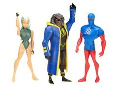 Exclusive JLU Three-Pack - Future Static, Aquagirl, Micron - Justice League Justice League Unlimited