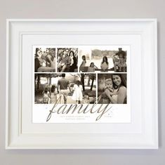 Family Photo Collage Frame adds beauty to the wall as well as it displays your memories. This stunning Just Family Photo Collage captures the best moments so it can be hung pride of place in your home on either a beautiful frame or canvas. Family Photo Collages, Family Photo Frames, Photo Wall Collage, Family Photos, Collage Frames, Pride, In This Moment, Display, Memories