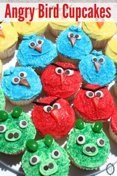 Angry Bird Cupcakes                                                                                                                                                                                 More