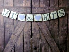 Wedding Banners MR & MRS Wedding Signs by WineCountryBanners
