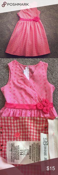 Bonnie Jean Dress 💕 Really nice dress! Bonnie Jean Size 14. It's like a pink/coral color! Like new! Bonnie Jean Dresses Casual