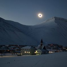 """From instagram.com/nytimes: """"Tourists from all around the world have traveled here to see the eclipse,"""" Tine Mari Thornes writes from Longyearbyen, in Svalbard, a Norwegian archipelago. """"I have seen a partial eclipse before, but nothing like this."""""""
