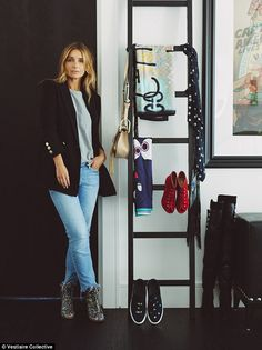 Perennially chic Louise Redknapp, 44, has opened the doors to her enviable closet as she p...