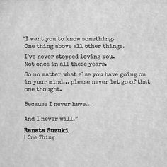 Love Quotes For Him & For Her :Ive never stopped loving you. Not once in all these years. Lost Love Quotes, Your Amazing Quotes, I Miss You Quotes, Love Yourself Quotes, Love Quotes For Him, Witty Quotes, Sad Quotes, Words Quotes, Life Quotes