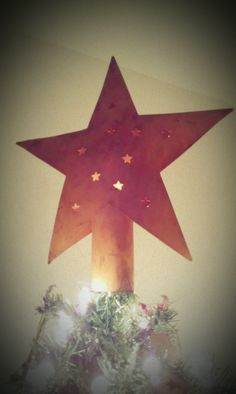 Star Topper! #primitive #country #tree topper #star