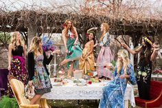 | Claire Marika and Alyssa Vincent | A High Fashion Bohemian Bridal Shower