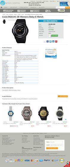 The website http://www.infiniteshopping.com/casio-bga141-1b-womens-baby-g-watch.html courtesy of @Pinstamatic (http://pinstamatic.com)