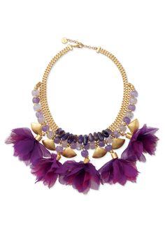 Stella & Dot purple statement necklace