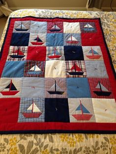 Baby Boy Quilt Patterns, Baby Boy Quilts, Lap Quilts, Quilt Blocks, Colchas Quilting, Quilting Projects, Quilting Designs, Nautical Baby Quilt, Beach Quilt