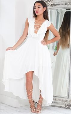 Blinded By Love maxi dress in white