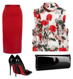"""""""Untitled #4"""" by darkandlovely-mctyson on Polyvore featuring Roland Mouret, Ganni and Christian Louboutin"""