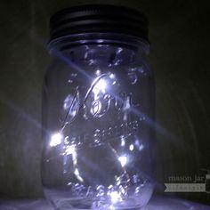 "Beautiful Angel Tears LED 46/"" 12 Light String Lid for Regular Mason Jar Set of 8"