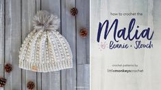 *** IMPORTANT SIZING INFO BELOW! *** Crochet the Malia Beanie or the Malia Slouch along with me! These patterns are part of the Malia Crochet-Along (#maliacal) and are also available on my blog at  ...  and  ... . Crochet, How, Crochê, Beanie,