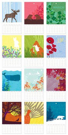 something like this, animal calendar. <3 it.