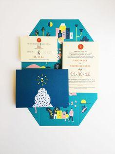 Visual Graphc - Wedding Invitation by Jefferson Cheng
