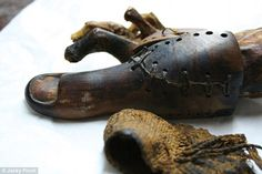 Archaeologists reveal stunning 1,500 year old prosthetic leg | Daily Mail Online