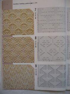 lots of lace machine or hand knitting  patterns- follow .diagram  编织 图解 (1) - lsbrk - 蓝色 波尔卡 的 相册 @ Afshan Shahid