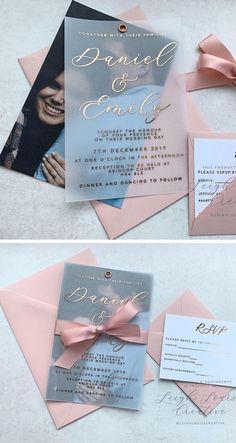 Acrylic Wedding Invitations, Wedding Invitation Card Design, Creative Wedding Invitations, Wedding Card Design, Wedding Stationery, Invitation Ideas, Wedding Card With Photo, Invites, Photo Invitations
