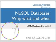 nosql-databases-why-what-and-when by Lorenzo Alberton via Slideshare