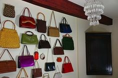 Hang your purses on the wall!