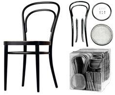 Silla Thonet 14, 1859. Primer mueble industrial de la historia