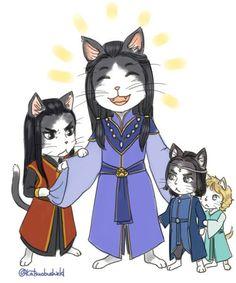 Котик Финвэ со своими котятами Феанором, Финголфином и Финарфином)) (It's the Silmarillion cat family again! *loves*)