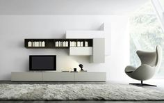 Cozy decor and floating wall units for the stylish, contemporary ...