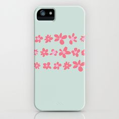 Daisy Chain in Petal Pink and Mint Green iPhone & iPod Case