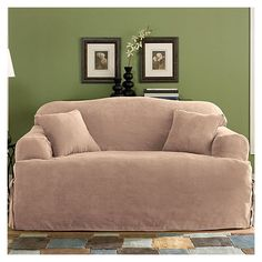 soft suede loveseat tcushion slipcover