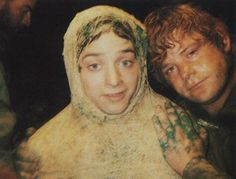 Frodo Baggins & Samwise Gamgee! You know that had to be a weird scene to film!