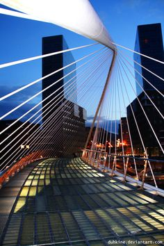 Campo Volantin Bridge, Bilbao, Spain by Santiago Calatrava Architect