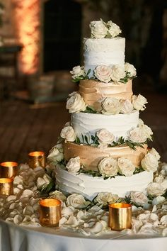Tall wedding cakes are the perfect way to achieve an opulent theme for your wedding day