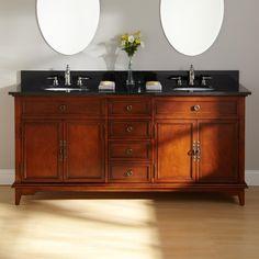 Bathroom. Three Atmospheres of Double Bathroom Vanities ...