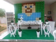 Painel de Balão do Steve Festa Minecraft
