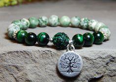 Tree of life bracelet  green bracelet