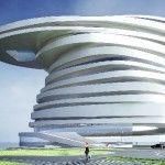 Abu Dhabi's Spiraling Helix Hotel. Logo image reference.