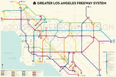 How to map a highway system using the design principles of subway maps; Or,A New Yorker's guide to Los Angeles