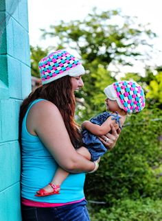 Crochet Mommy and Me Hat  Mother Daughter by TheAppleandTree, $35.00