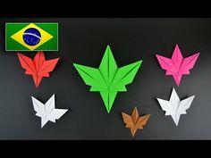 (12) Origami: Folha de Plátano - Instruções em Português BR - YouTube