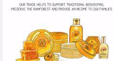 Publicidad línea cosmética con miel- The body shop