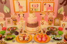 Um amor esta Festa Safari Pink!!Pura inspiração para sua próxima festa.Imagens Pink Atelie de Festas.Lindas ideias e muita inspiração.Bjs, Fabíola Teles.Mais ideias lindas: Pink Atelie de Fes...