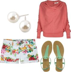 """""""floral shorts(:"""" by richky on Polyvore"""