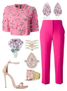 """""""Untitled #1111"""" by cheechchonghigh ❤ liked on Polyvore featuring Emanuel Ungaro, Alexander McQueen, Dsquared2, David Yurman and Christian Dior"""