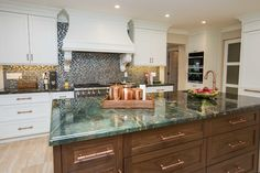 Hammered Copper Sink Kitchen Transitional with Shaker Cabinets Architects and Building Designers