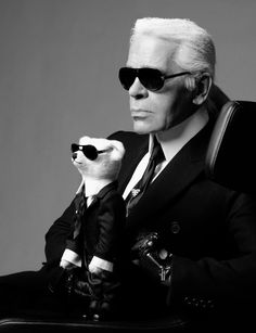 #KarlLagerfeld self portrait for Steiff -- #BlackTie