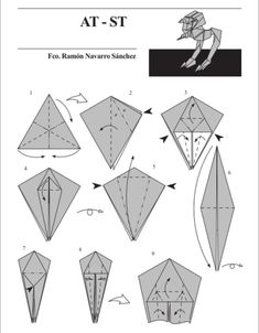 """Star Wars Crafts Discover 10 Diagrams To Create Your Own """"Star Wars"""" Origami Warning: Some of these may cause frustration. Which leads to hate which leads to suffering which leads to the Dark Side. Origami And Kirigami, Oragami, Origami Easy, Origami Paper, Dollar Origami, Origami Boxes, Origami Ship, Star Wars Origami, Origami Stars"""